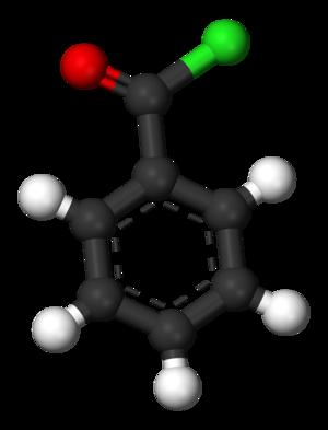 Benzoyl chloride - Image: Benzoyl chloride 3D balls