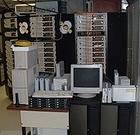 The Borg, a 52-node Beowulf cluster used by th...