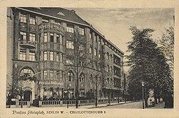 Hotel Steinplatz H. O. Förster, Berlin / Public domain