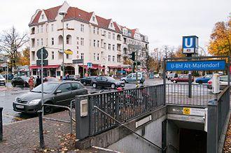 Alt-Mariendorf (Berlin U-Bahn) - Entrance to the Alt-Mariendorf U-Bahn station