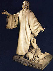 Rodolpho Bernardelli: Cristo e a mulher ad�ltera, 1881, MNBA. A busca do pathos atrav�s da ret�rica gestual