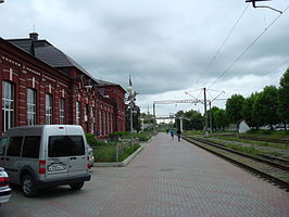 Het station in Beslan