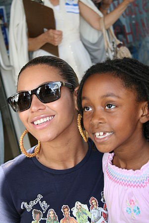 Knowles at early voting in Florida.