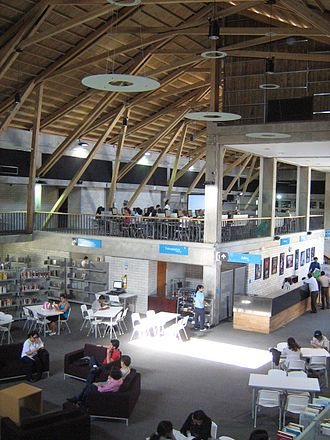 Bethlehem Library - Interior view of Bethlehem Library Park.