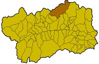 Bionaz - Image: Bionaz Locatie