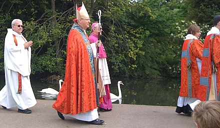 Smith in procession to St Albans cathedral in 2010. BishopAlanSmith.jpg