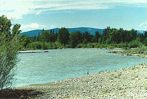 Blackfoot River (Montana) - The Blackfoot River two miles east of Lincoln, Montana.