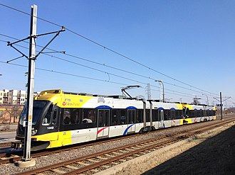 Metro Transit (Minnesota) - A southbound train from the 46th Street Station.