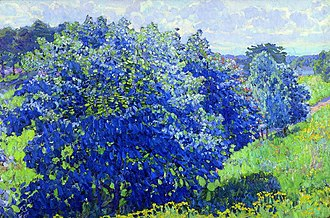 Konstantin Yuon - Image: Blue bush