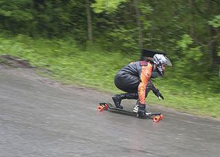 Hill bomb Skateboard trick