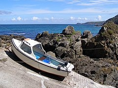Boat on the slipway at Pendeen Cove - geograph.org.uk - 230141.jpg