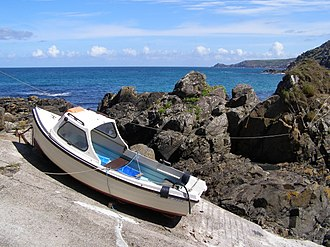 Pendeen - Image: Boat on the slipway at Pendeen Cove geograph.org.uk 230141