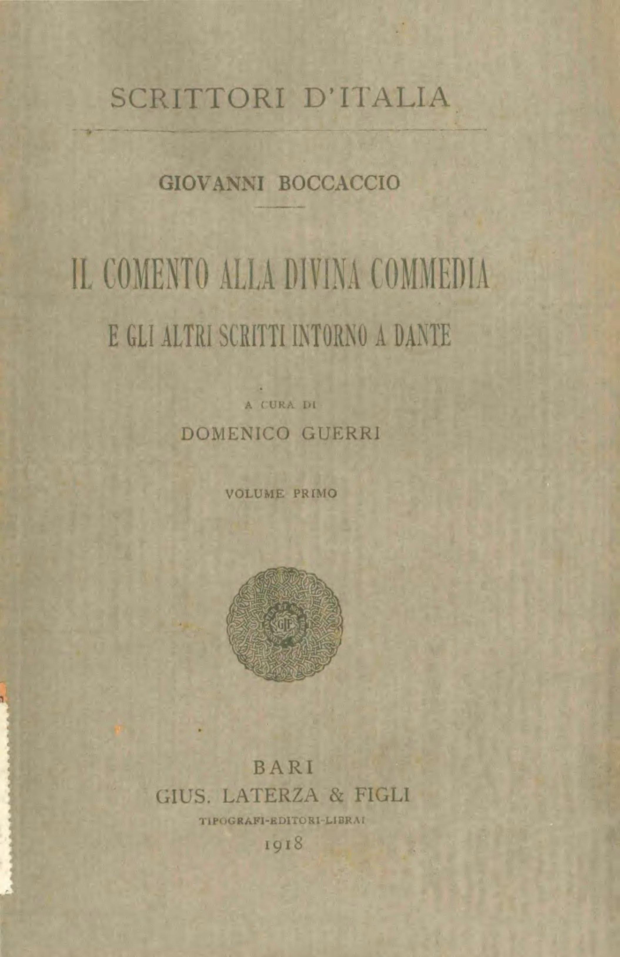 File:Boccaccio, Giovanni – Il comento alla Divina Commedia