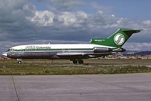 SAM Colombia Flight 501 - A SAM Colombia Boeing 727, similar to the one involved