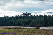 Boeing EA-18G Growler on Final to Naval Outlying Field Coupeville