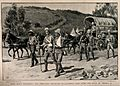 Boer War; wounded soldiers returning to Ladysmith camp after Wellcome V0015525.jpg