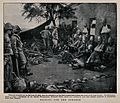 Boer War; wounded soldiers waiting outside a field hospital Wellcome V0015584.jpg