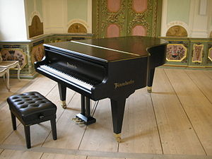 Image of a Bösendorfer piano, taken in the Gut...