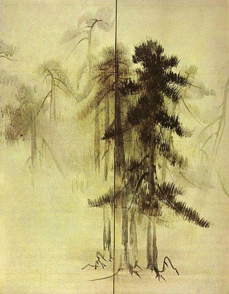 File:Bois de pins, détail d'un paravent par Hasegawa Tōhaku.jpg