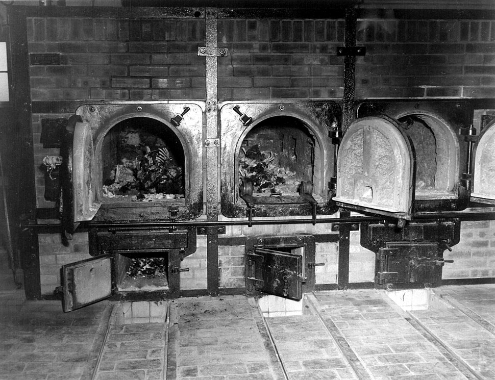 Bones of anti-Nazi German women still are in the crematoriums in the German concentration camp at Weimar, Germany