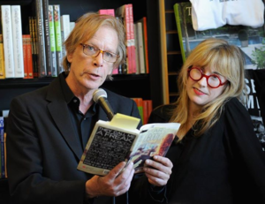 Legs McNeil - McNeil and Gillian McCain doing a book reading at Book Soup in Los Angeles, California on July 26, 2014.