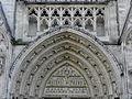Bordeaux (33) Cathédrale Saint-André Transept Nord Portail 04.JPG