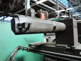 Boring (manufacturing) - A part's-eye view of a boring bar.