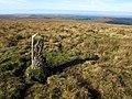 Boundary stone near Eylesbarrow - geograph.org.uk - 1513792.jpg