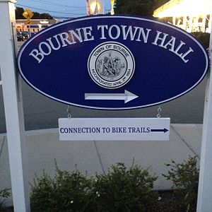 Bourne Town Hall - Town Hall sign