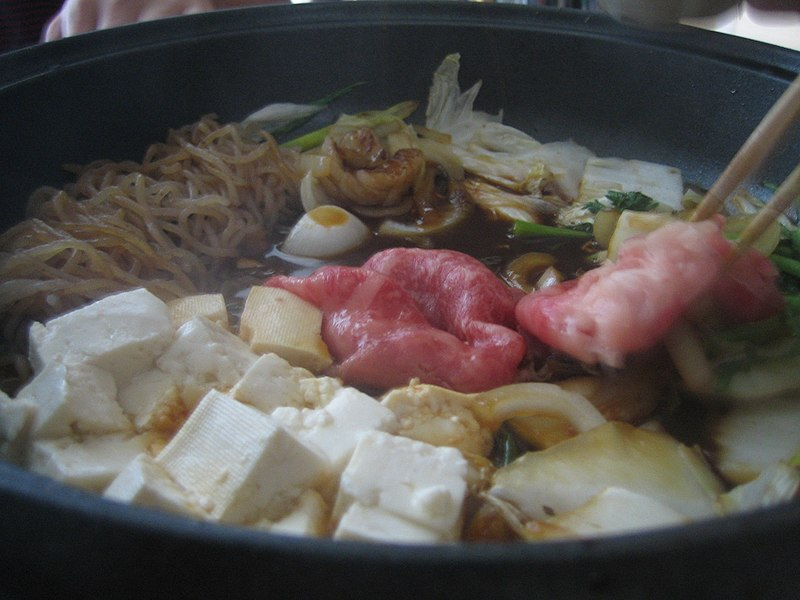 File:Bowl of sukiyaki closeup.jpg