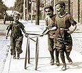 Boys with hoops on Chesnut Street.jpg