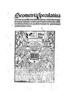 Thomas Bradwardine - Geometria speculativa, 1495