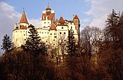 Bran Castle built in 1212, is commonly known as Dracula's Castle and is situated in the centre of present-day Romania. In addition to its unique architecture, the castle is famous because of persistent myths that it was once the home of Vlad III Dracula.