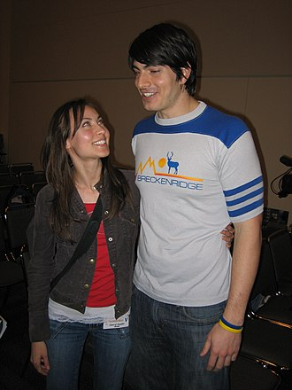 Brandon Routh - Routh (right) and Courtney Ford (left) in February 2006