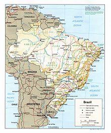 Outline Of Brazil Wikipedia - Federative republic of brazil map