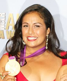 Brenda Villa - Olympic Medal winner at ALMA Awards (cropped).jpg