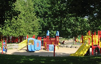 Brewer Park - Playground facilities on the northeastern side of Brewer Park