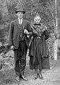 Bride and groom, Bjørkedalen, Førde, 1921.jpg