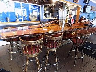 Dragon (keelboat) - Magic Dragon used as a bar in Britannia Yacht Club's Dragon pub