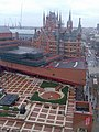 British Library courtyard from adjacent hotel - geograph.org.uk - 1730741.jpg