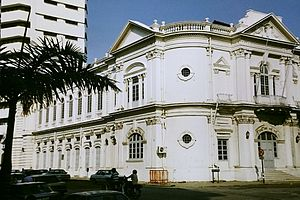 Downing Street, George Town - The only surviving portion of the Straits Settlements-built Government Offices has since been converted into the Penang Islamic Council offices.
