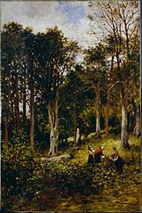 Landscape (Four Figures in a Wood)