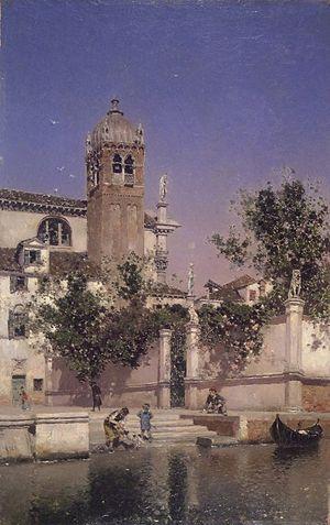 Martín Rico - A Canal in Venice, 1903. Brooklyn Museum