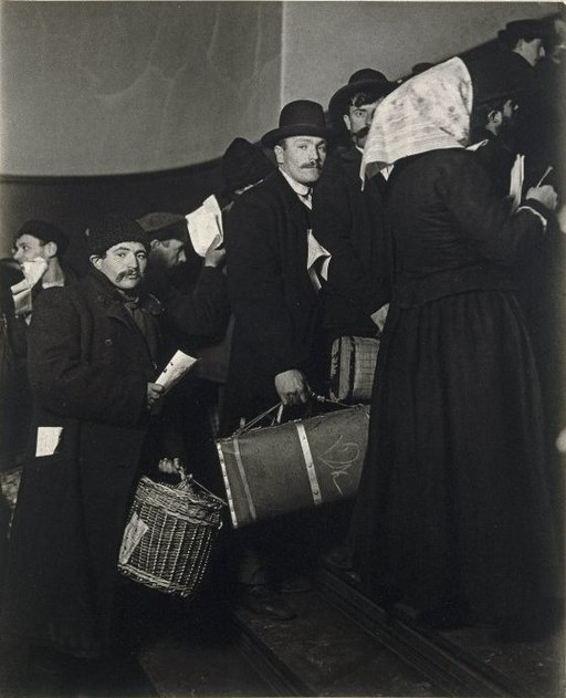 Brooklyn Museum - Climbing into the Promised Land Ellis Island - Lewis Wickes Hine