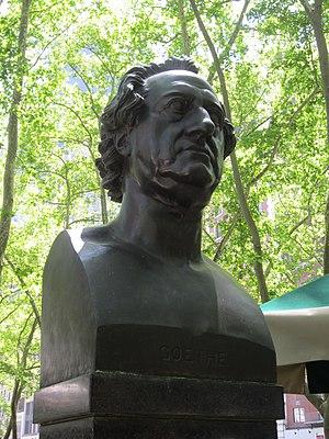 Johann Wolfgang von Goethe (Fischer) - The sculpture in 2014