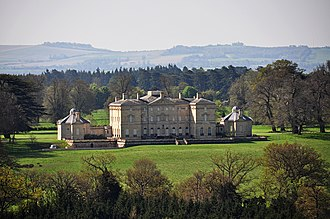 Buckland House - Buckland House with backdrop of the North Wessex Downs