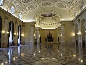 Bucuresti, Romania, Palatul Regal (Muzeul National de Arta al Romaniei - Pavilionul Sala Tronului - Sala Tronului - 2 ); B-II-m-A-19856