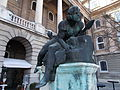 Budapest Castle district. Csongor sculpture on Savoya terrace..JPG