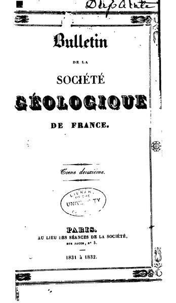 File:Bulletin de la société géologique de France - 1re série - 2 - 1831-1832.djvu