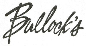 Bullock's - Image: Bullock's Former Dept Store logo